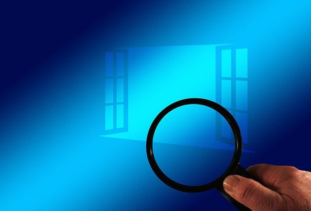okno a hledání