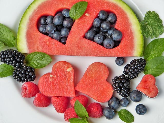srdce z melounu