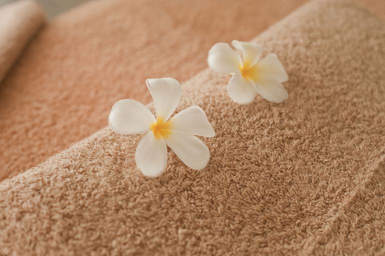 Deka, kvety, relaxačné prostredie